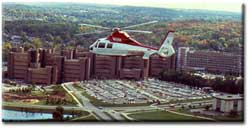 The UW Flight For Life Helicopter