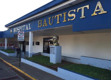 View of the façade of Hospital Bautista